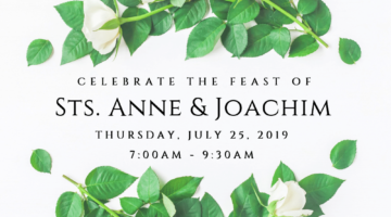 Feast Day of Sts. Anne and Joachim